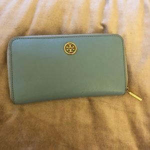 Tory Burch blue wallet